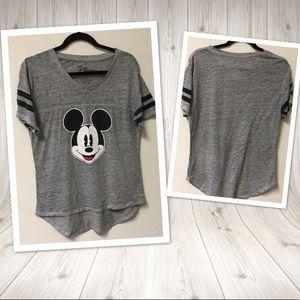 Disney Mickey Mouse Tee Tshirt LARGE gray black